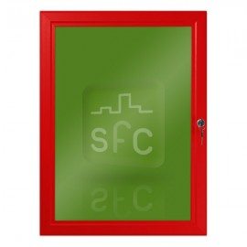 A1 Red Lockable Poster Frame